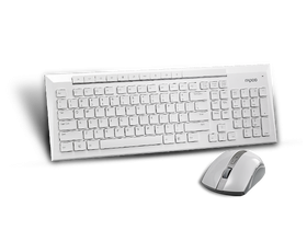 Tastatura wireless Rapoo 8200P si mouse, alb