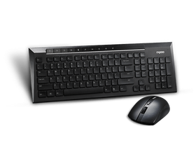 Tastatura wireless Rapoo 8200P si mouse, negru