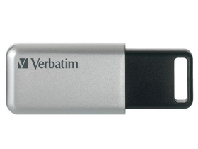 "USB memorija, 32GB, USB 3.0, 100/35MB/sec, PC & MAC, VERBATIM ""SECURE DATA PRO"", siva"