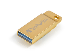 "Pendrive, 16GB, USB 3.0,  VERBATIM ""Exclusive Metal"" zlatni"