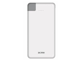 Powe bank Acme PB08 Slim Micro USB si Lighting  4000mAh, alb
