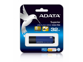 Adata S102P 32GB USB 3.1 pendrive, moder (AS102P-32G-RBL)