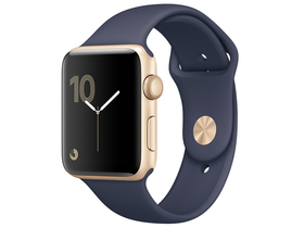 Apple Watch Series 2, 38mm toc auriu, curea albastru (mq132mp/a)