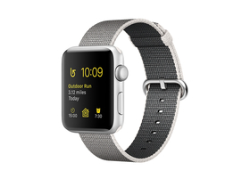 Apple Watch Series 2 argintiu, curea plastic pearl gray,  38mm (mnnx2mp/a)