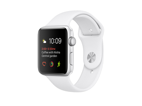 Apple Watch Series 2 argintiu, curea sport alb, 42mm (mnpj2mp/a)
