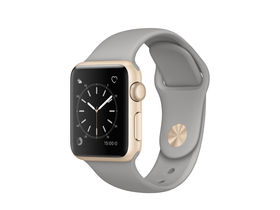 Apple Watch Series 1 auriu, curea sport gri beton, 38mm  (mnnj2mp/a)