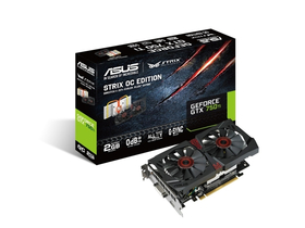 Placă video Asus STRIX-GTX750TI-OC-2GD5 2GB