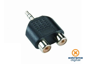 Adaptor Bandridge AP342 (3,5 mm Jack - 2xRCA)