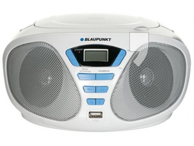 Аудио микросистема Blaupunkt Boombox BB5WH, MP3/USB, CD плейър, цвят: бял