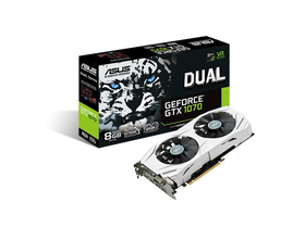 Placa video Asus nVidia Dual GTX 1070 8GB GDDR5  - DUAL-GTX1070-8G