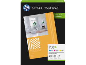 HP No 903XL 1CC20AE Officejet Value Pack, CMY + 75 lap A4 papir