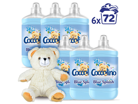Balsam de rufe Coccolino Blue Splash, 6x1800ml