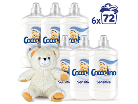 Coccolino Sensitive Pure oмекотител, 6x1800ml