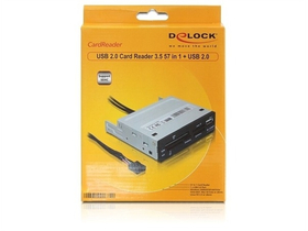 "Delock 91674 3.5 ""43 in 1 + 1 x USB 2.0 Port čtečka karet"