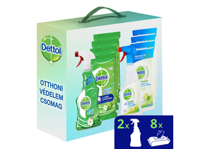 Dettol Power & Fresh online exkluzivní balení (Power & Fresh Utěrky 8x32 ks, Spray 2x500 ml)