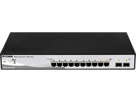 D-Link 10-Port 10/100/1000 Mbps Gigabit PoE Smart+ Switch 2 Combo 1000BASE-T/SFP porttal (DGS-1210-10P)