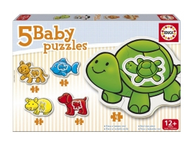 Puzzle Educa Animals, baby, 5 in 1