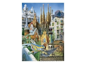 Puzzle Educa Anton Gaudi, collage mini, 1000 buc.