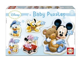 Puzzle Educa Disney Baby Mickey Mouse, 5 in 1