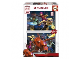 Educa Disney Big Hero 6 Puzzle, 2x100 komada