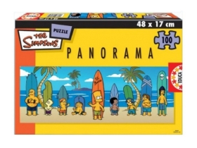 Puzzle Educa Simpsons panorama, 100 buc.