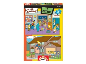 Puzzle Educa Simpsons, 2x100 buc.