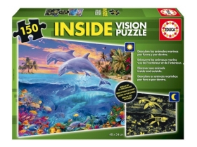 Puzzle Educa Marine animals, 150 buc.
