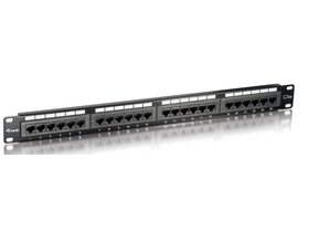 Equip 235324 Cat5 patch panel 24 porturi, 1U, negru