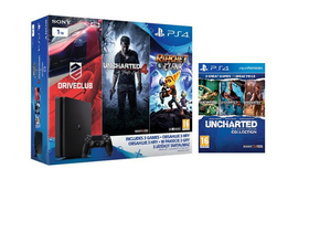 Pachet PlayStation® PS4 Slim 1TB + Uncharted Collection