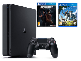 Sony PS4 Slim 1TB + Horizon Zero Dawn + Uncharted: The Lost Legacy