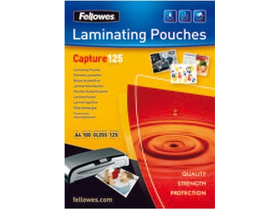 Folie laminat lucios Fellowes 65x95 mm, 125 microni