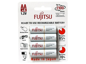 Fujitsu Ready to use Rechargeable 1900mAh AA  batérie
