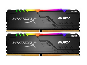 Kingston HX434C16FB3AK2/16 HyperX Fury DDR4 16GB 3466MHz CL16 DIMM 1Rx8 memória modul, RGB, 2db