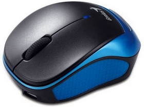 Mouse wireless  Genius MicroTraveler 9000R black-blue, negru-albastru