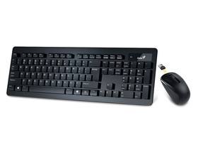 Tastatura Genius SlimStar 8005 Wireless + Mouse Black HU