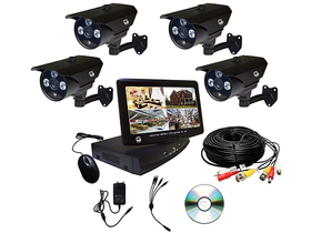 Set Global MD1004 + 4XC163 DVR, ecran LCD