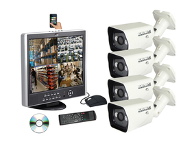 Sistem complet Global SE-RM6245+4XCA354V DVR, monitor LCD, cameră + 500GB HDD