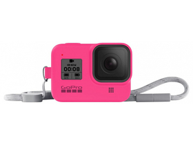 GoPro seeve + lanyard (HERO8 Black) electric pink (AJSST-007)