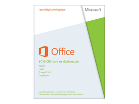 Microsoft Office 2013 Home and Student 32-bit/64bit Hungarian Medialess OEM szoftver