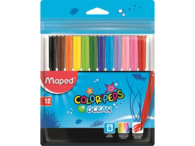 "Флумастер Maped ""Color`Peps Ocean""  12 цвята"