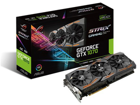 Asus nVidia Strix GTX 1070 Gaming 8GB DDR5  -STRIX-GTX1070-O8G-GAMING