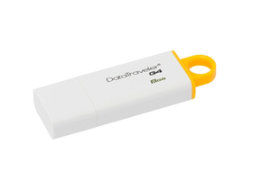 Kingston DataTraveler Generation 4 (DTIG4) 8GB USB3.0 pendrive, žltá-biela