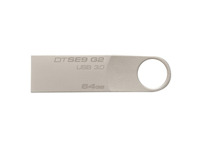 Kingston DataTraveler SE9 G2 64GB USB 3.0 fémházas, pendrive, ezüst (DTSE9G2/64GB)