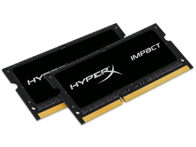 Kingston (HX316LS9IBK2/8) HyperX Impact Black 1,35V 8GB DDR3 notebook pamäte