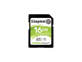 Kingston Canvas Select 16GB SDHC memóriakártya, Class 10, UHS-I, U1 (SDS/16GB)