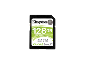 Kingston Canvas Select 128GB SDXC memóriakártya, Class 10, UHS-I, U1 (SDS/128GB)