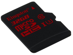 Kingston Secure Digital Micro 32GB Cl10 UHS-I U3 (90/80) memóriakártya (SDCA3/32GB) + SD adapter