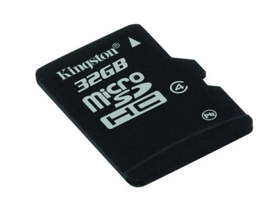 Kingston microSDHC kártya 32GB Class4 + SD adapter