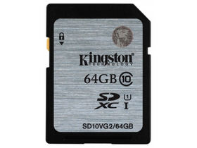 Kingston SDXC kártya 64GB Class10 UHS-I 45MB/s