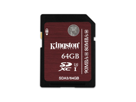 Kingston SDXC karta 64GB UHS-I Class 3